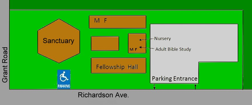 Site Map for Foothill Baptist Church, Los Altos